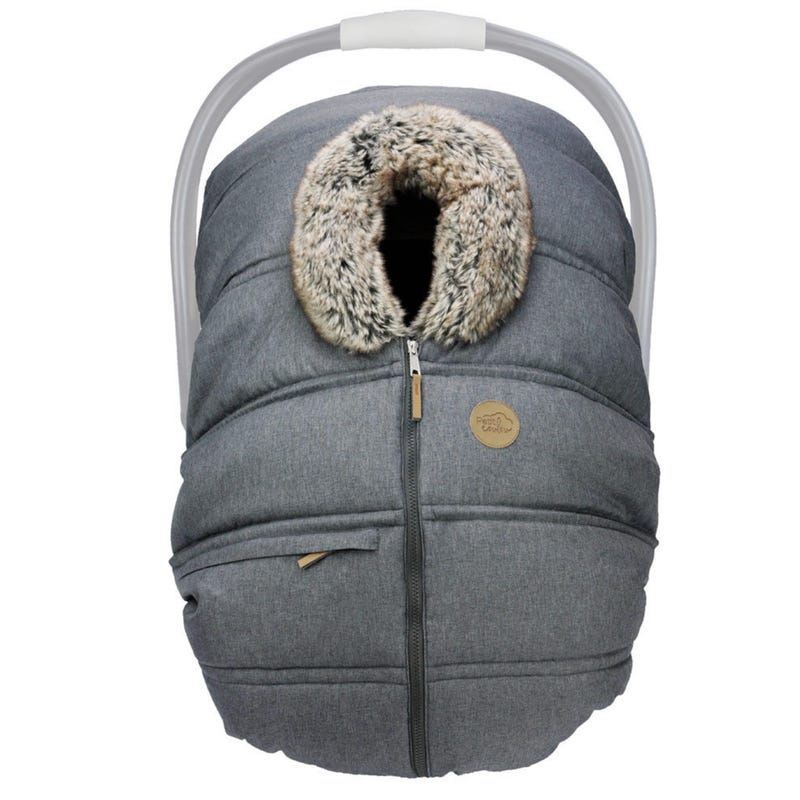 Winter Baby Car Seat Cover - Grey Anthracite
