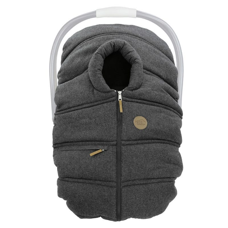 Winter Baby Car Seat Cover Wool - Charcoal