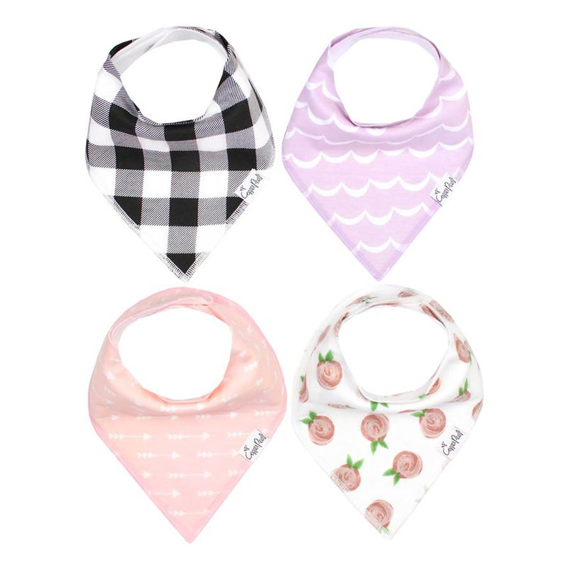 Baby Bandana Bibs Set of 4 - Rosie