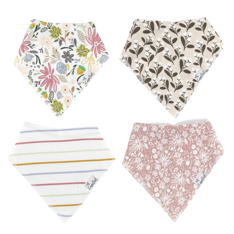 Baby Bandana Bibs Set of 4 - Olive