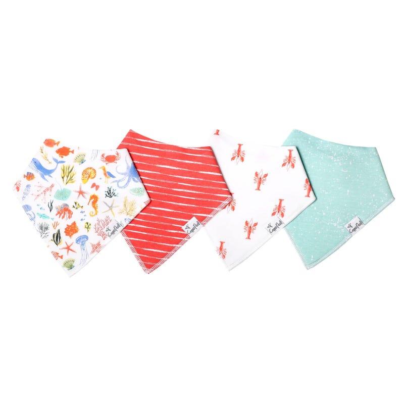 Baby Bandana Bibs Set of 4 - Nautical