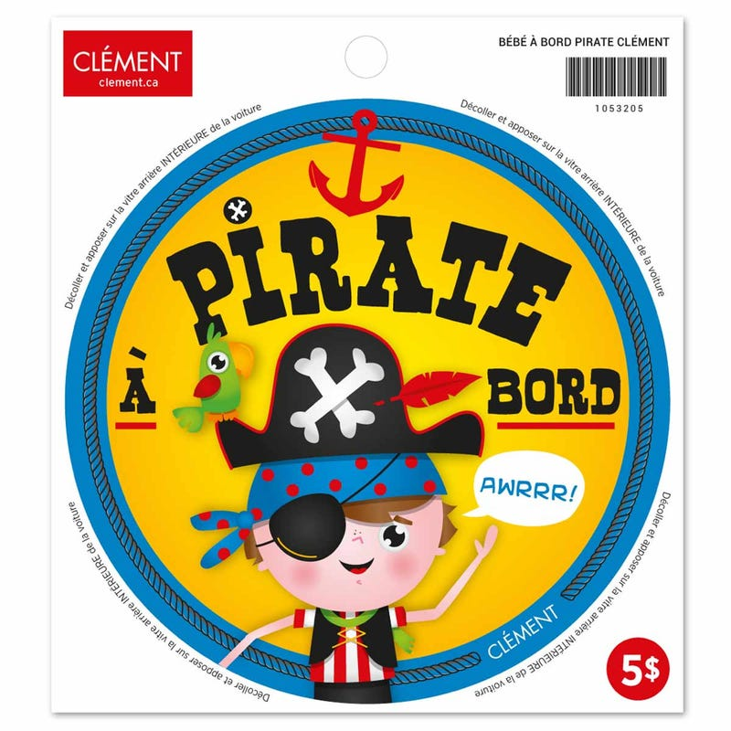 Bébé à Bord Sticker - Pirate (French)