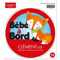 Bébé à Bord Sticker - Fox (French)