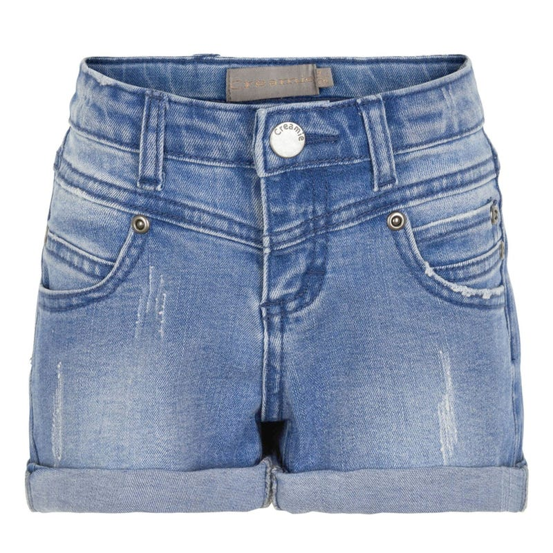 Flowers Denim Shorts 7-14y