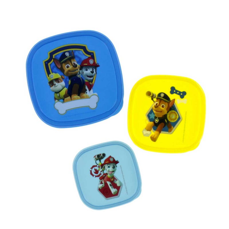 Paw Patrol Storage Containers Set of 3