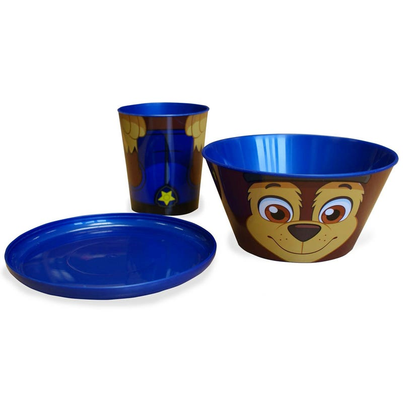 Paw Patrol Dishes 3 Pieces - Chase