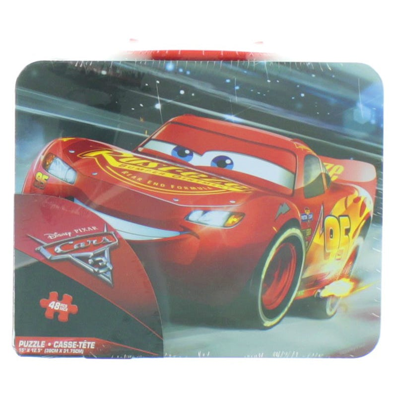 Cars 48 Pieces Puzzle and Metal Box