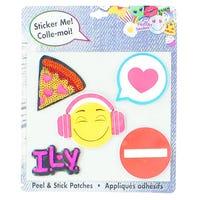 Badges Autocollantes Paquet de 5 - Pizza