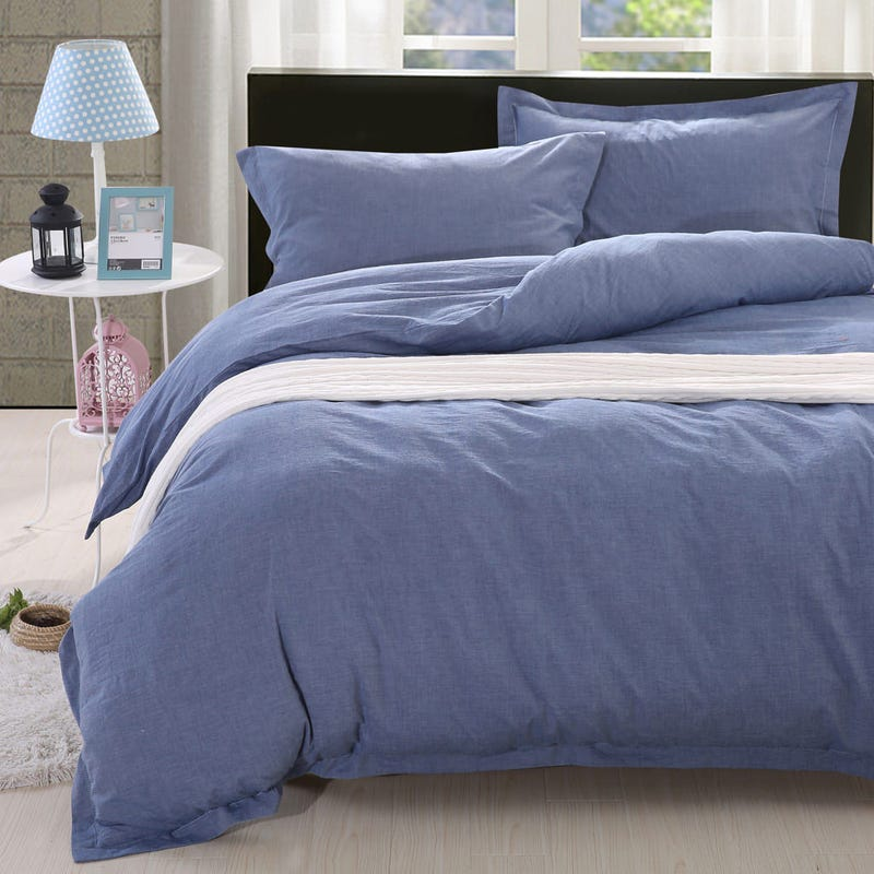Denim Twin Duvet Cover - Blue