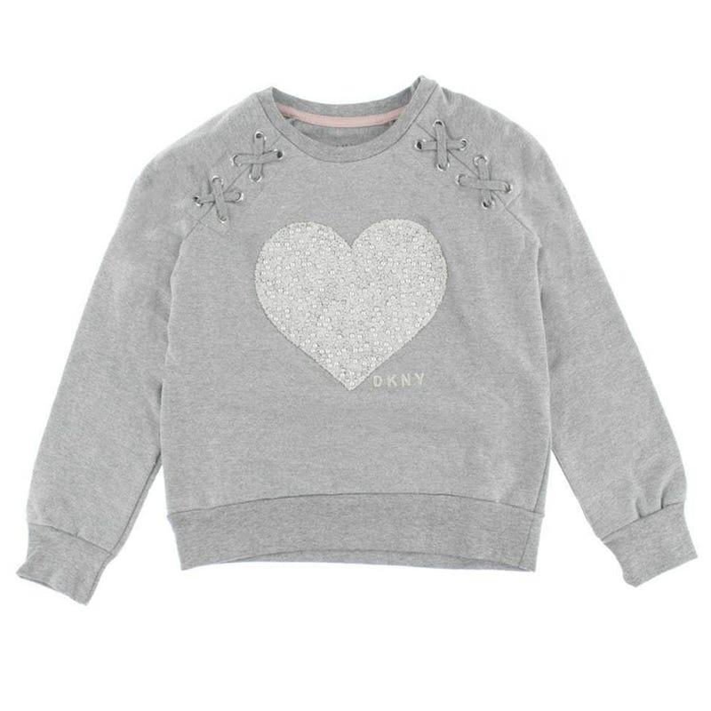 Gilet Ouaté Coeur Perles 7-16ans
