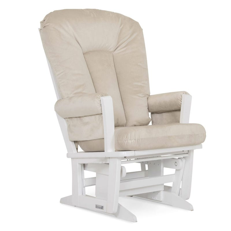 Exclusive Rocking Chair - White Wood / Fabric #3093