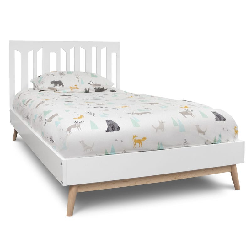 Lollipop Twin Bed - White / Natural