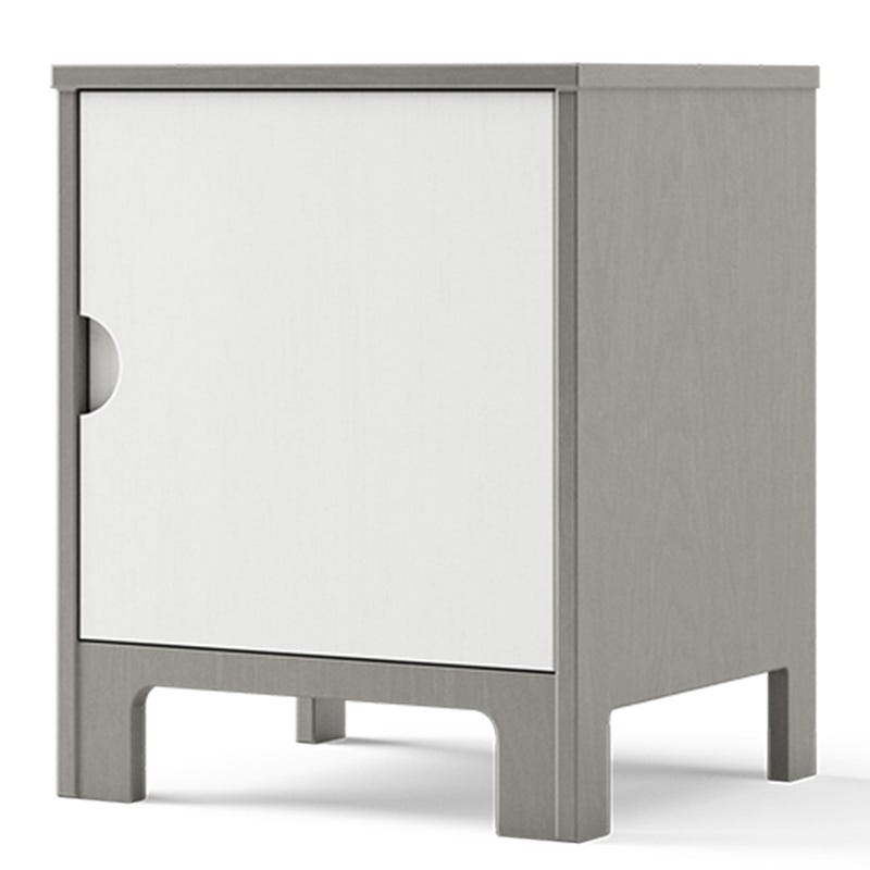 Cupcake Nightstand - Grey and White