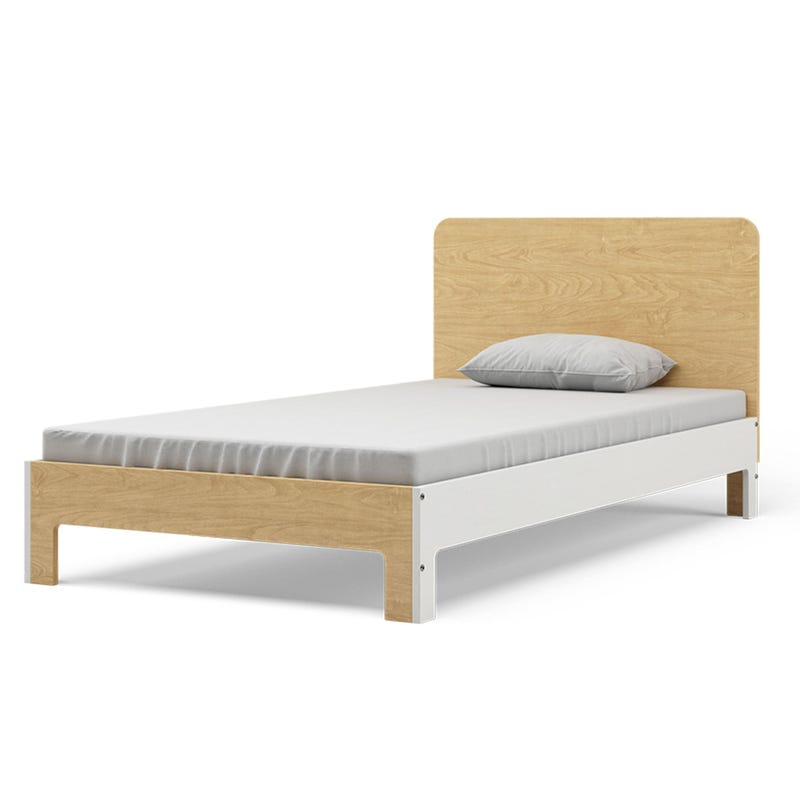 Cupcake Twin Bed - Natural and White