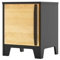 Nightstand Caramel - Black/Natural