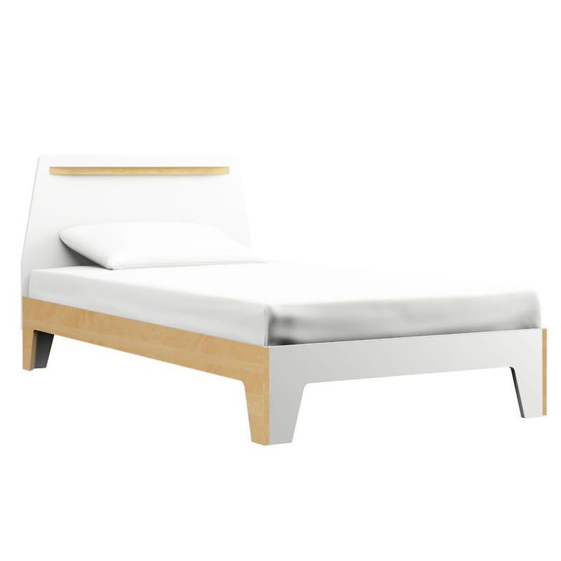 Caramel Twin Bed - White/Natural