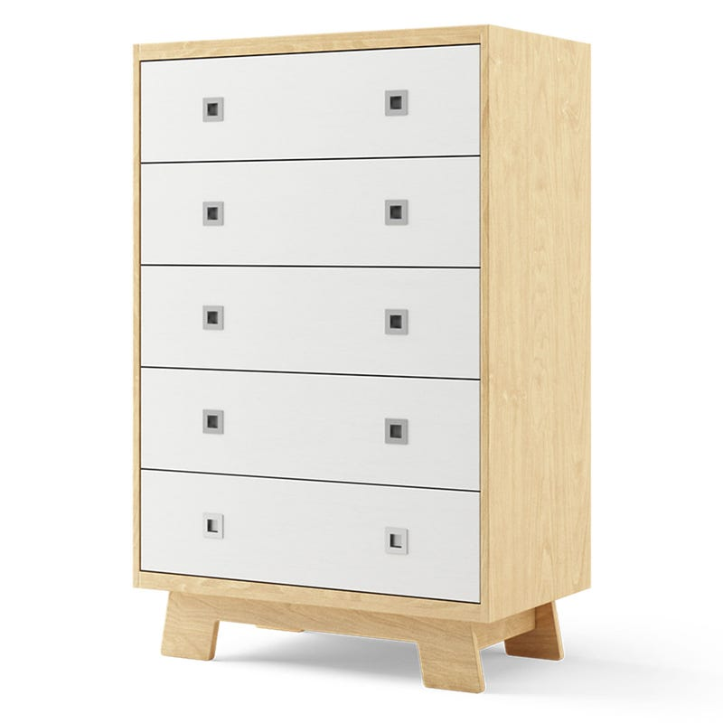 Pomelo 5-Drawers Dresser - Natural and White