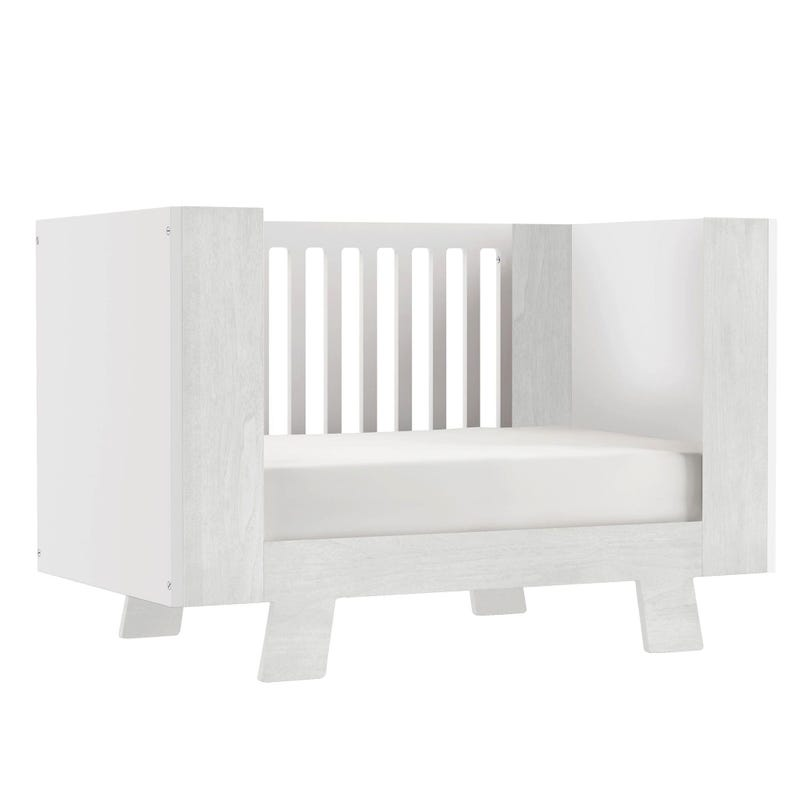 Crib white and rustic white