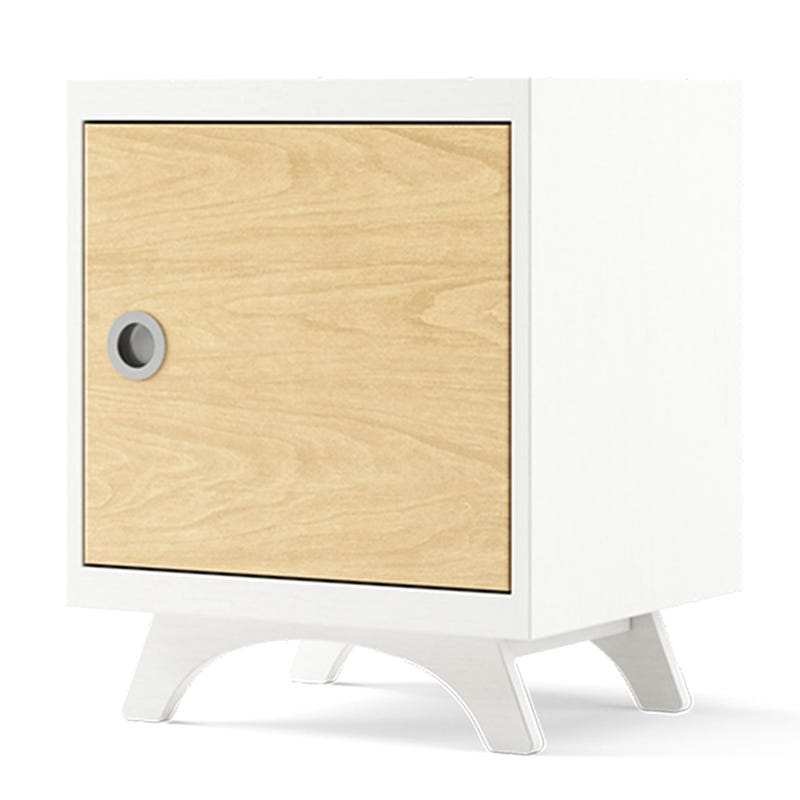 Melon Nightstand - White and Natural
