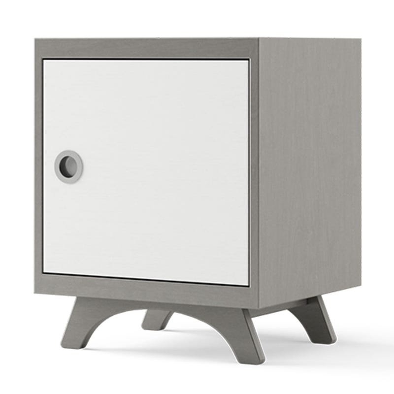 Melon Nightstand - Grey and White