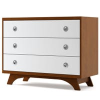 Melon 3-Drawers Dresser - Moisson and White