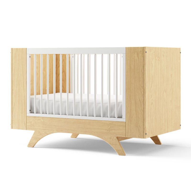 Melon 3 in 1 Crib - Natural and White