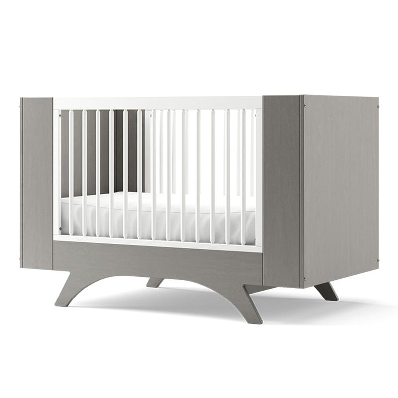 Melon 3 in 1 Crib - Grey and White