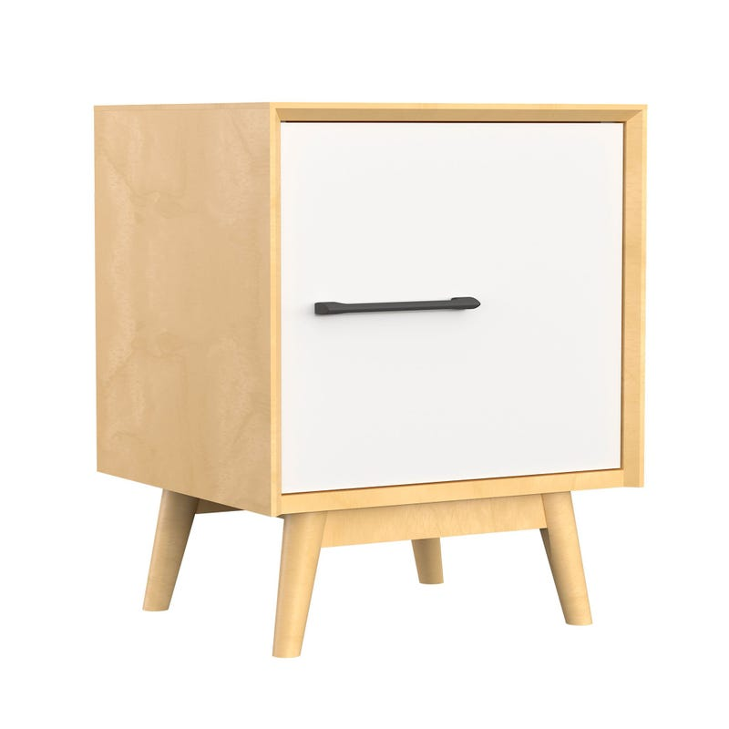 Lollipop Nightstand - Natural/White