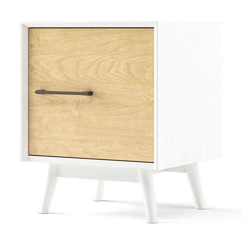 Lollipop Nightstand - White and Natural