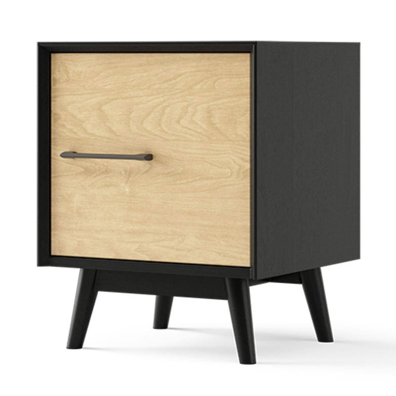 Lollipop Nightstand - Black and Natural