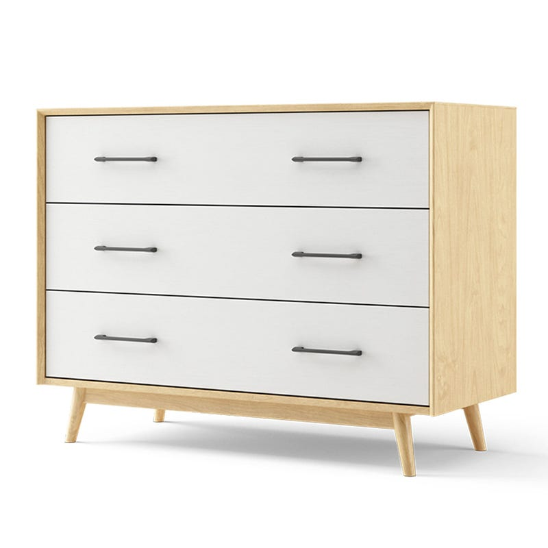 Lollipop 3-Drawers Dresser - Natural and White