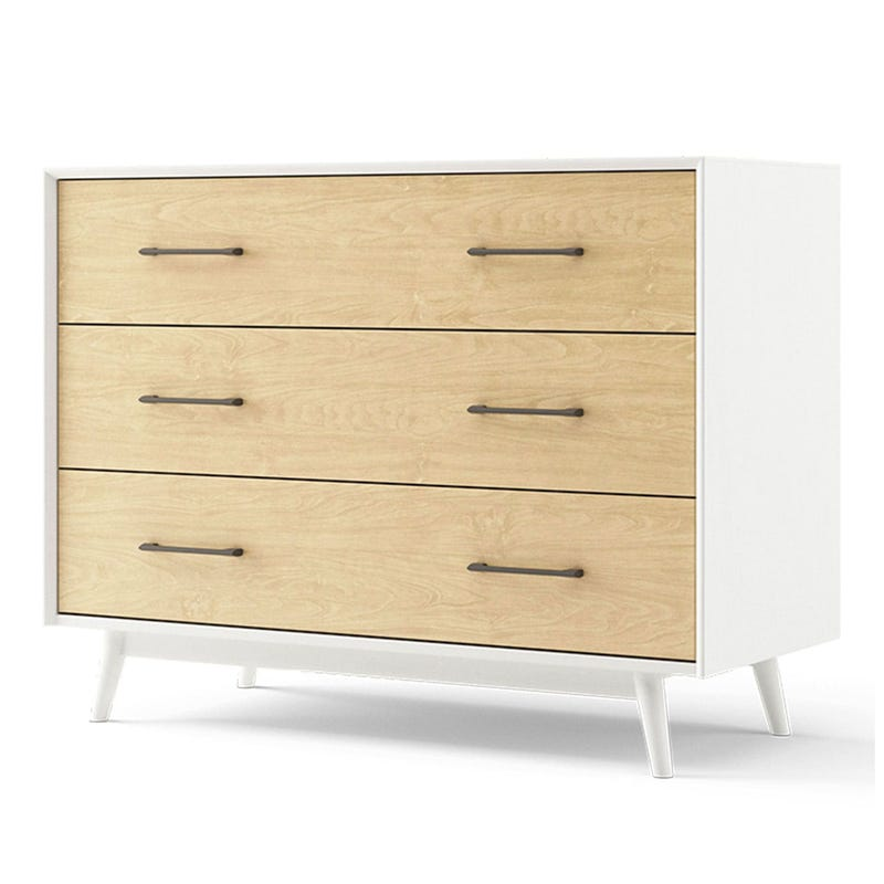 Lollipop 3-Drawers Dresser - White and Natural