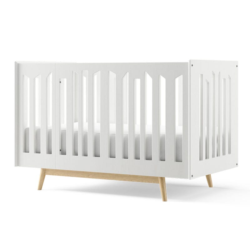 Lollipop 4 in 1 Crib - White and Natural