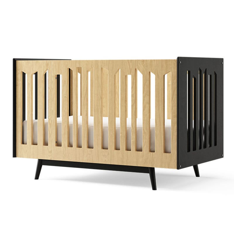 Lollipop 4 in 1 Crib - Black and Natural