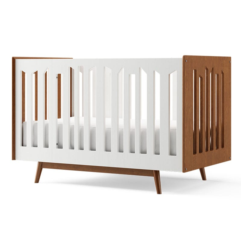 Lollipop 4 in 1 Crib - Harvest and White