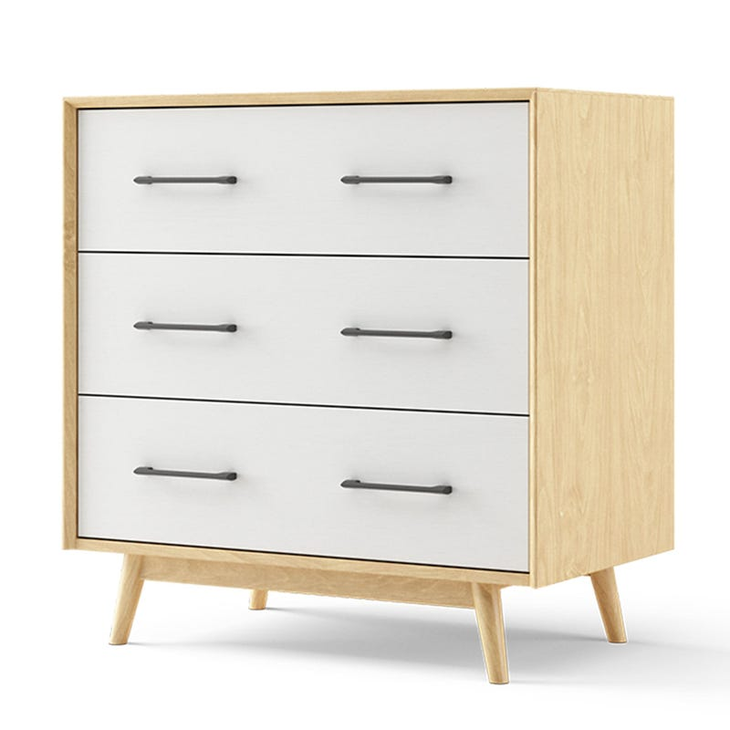 Lollipop Mini 3 Drawers Dresser - Natural and White