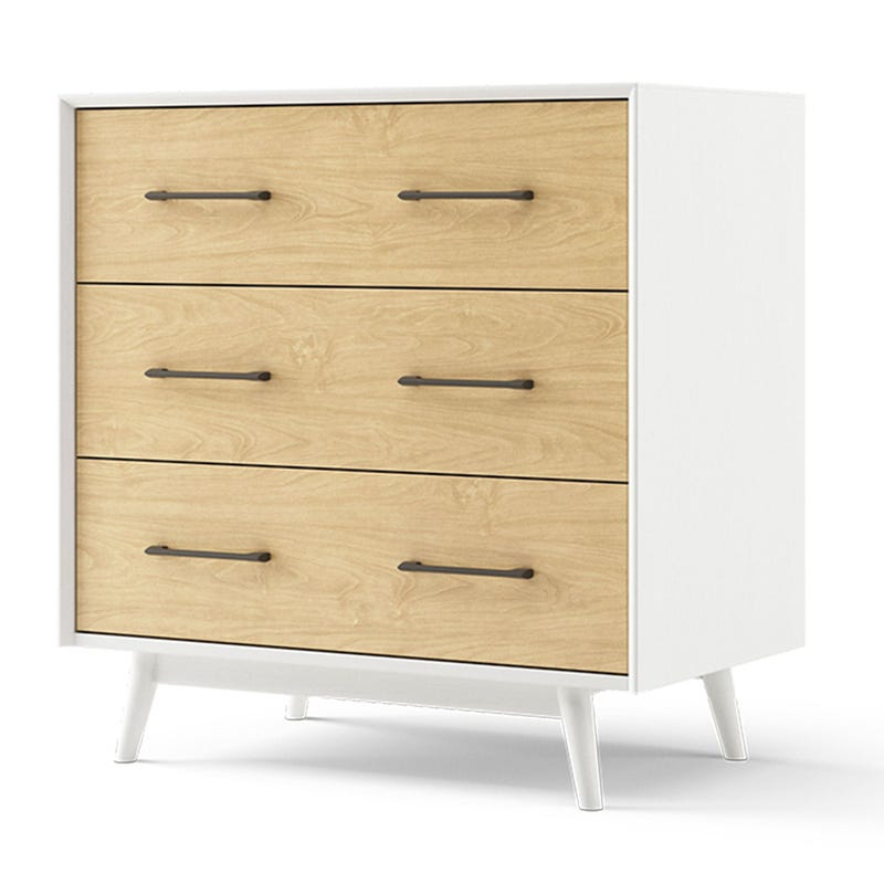 Lollipop Mini 3-Drawers Dresser - White and Natural