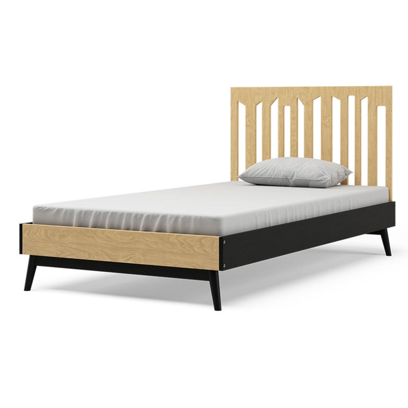 Lollipop Twin Bed - Natural and Black
