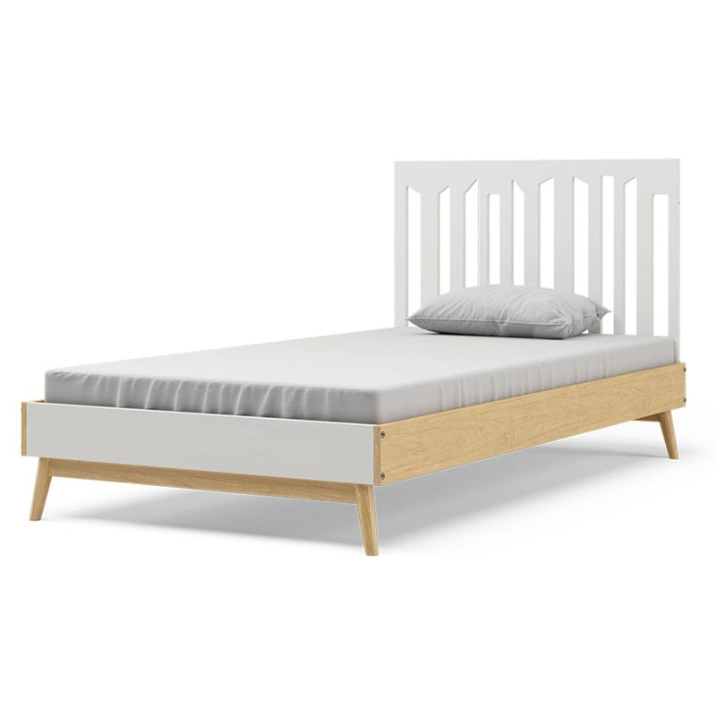 Lollipop Twin Bed - Natural and White