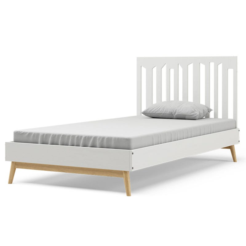 Lollipop Twin Bed - White and Natural