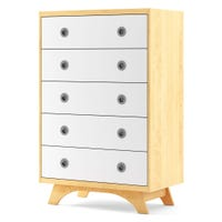 5 Drawers Chest Melon - Natural/White
