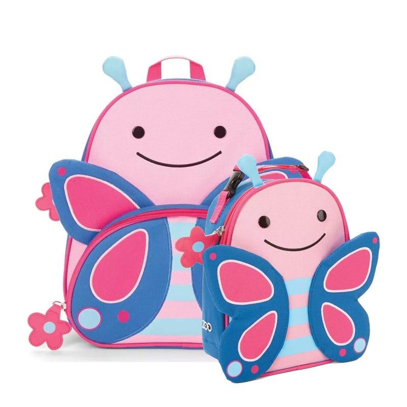 Ensemble Sac à dos et Boîte à lunch - Papillon