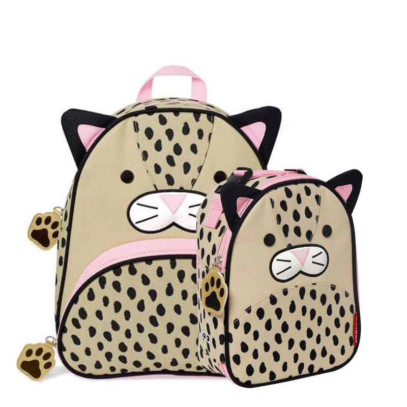 Bundle Backpack and Lunch Box - Leopard