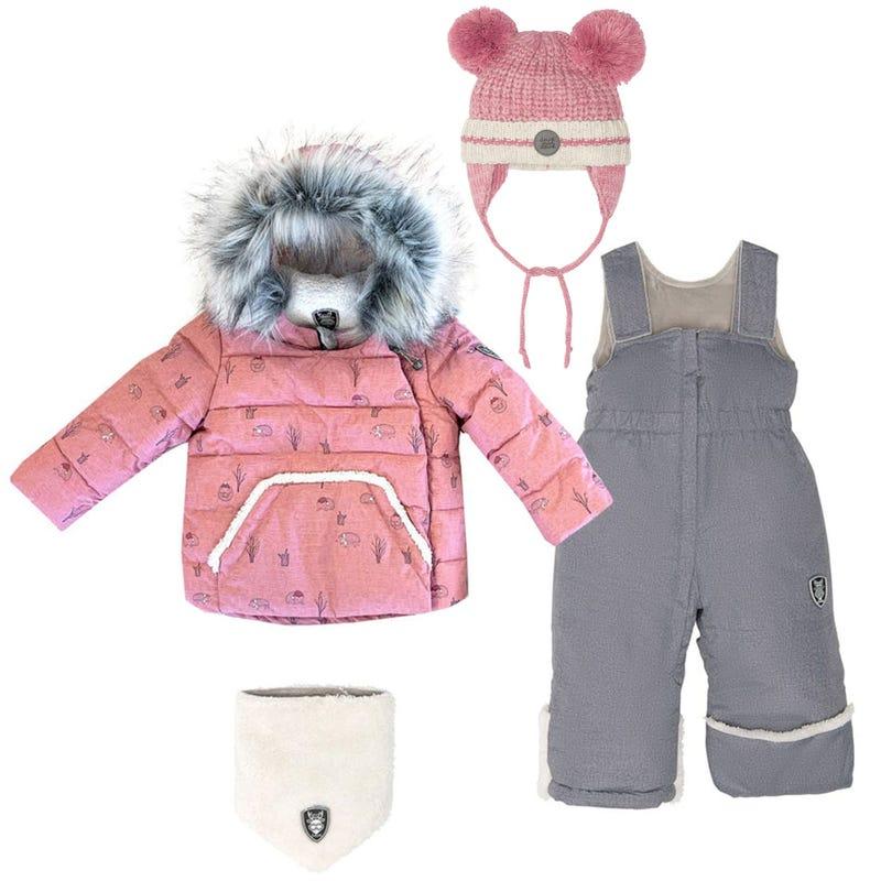 Hedgehogs Snowsuit 18-30m + Hat - Pink