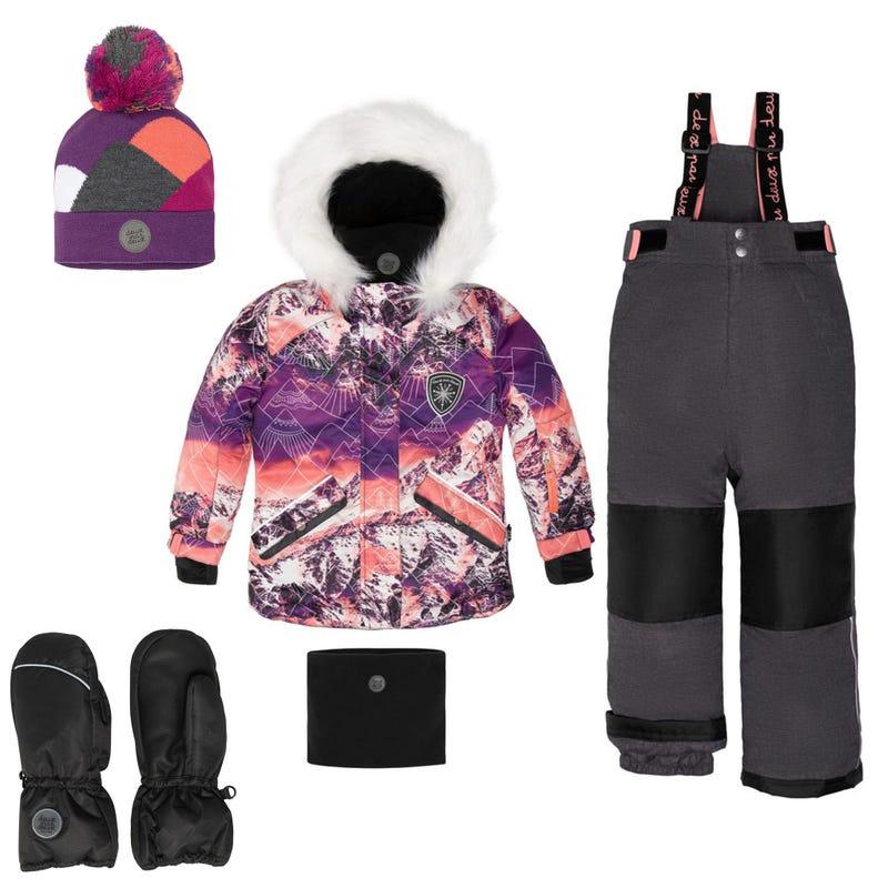 Habit de neige Montagne + accessoires 2-12ans - Noir