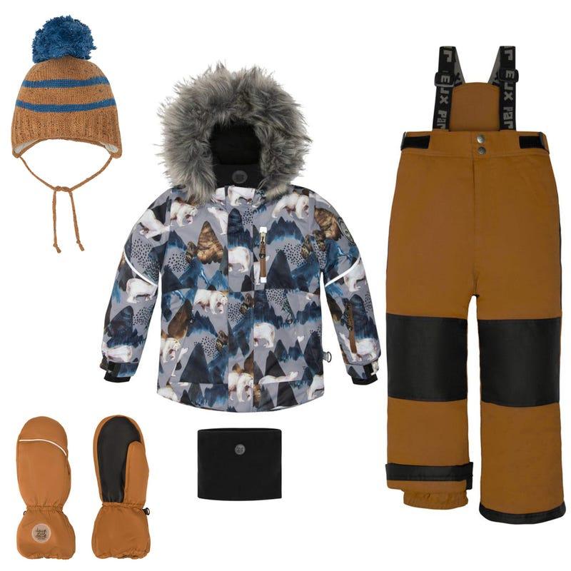 Bears Snowsuit + Accessories 2-12Y - Ocher