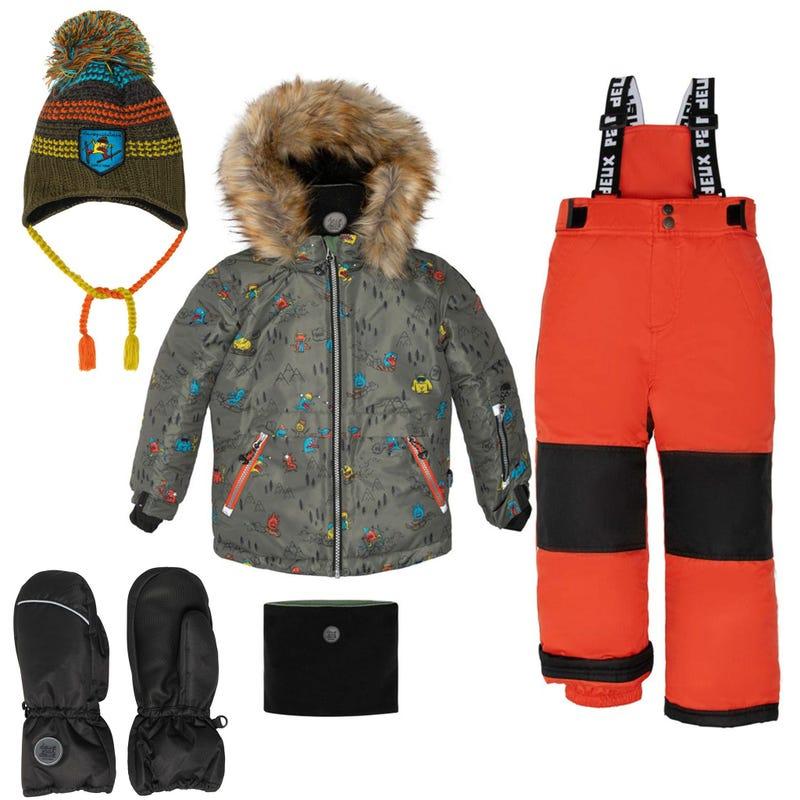 Habit de neige + Accessoires 2-12ans - Orange