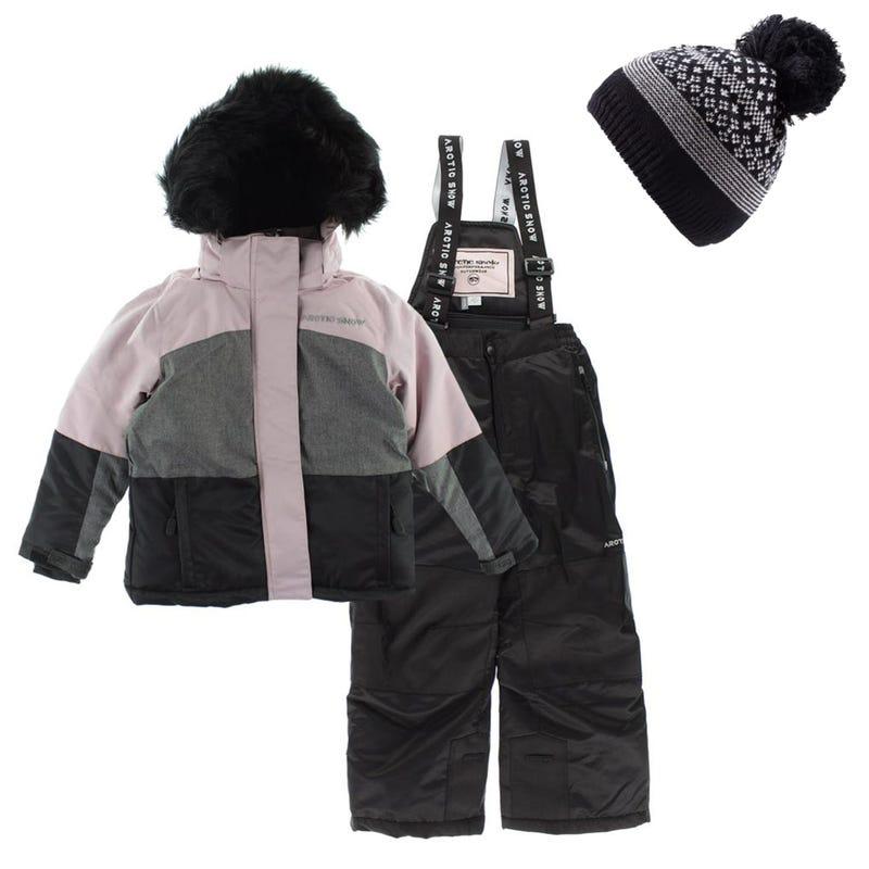 Snowsuit + Hat Akutan 7-16y - Pink