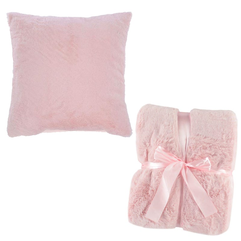 Bundle Cushion + Blanket- Rose