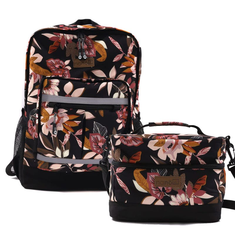 Backpack + Lunch Box - Flowers